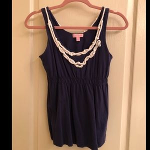 Lilly Pulitzer tank with rope